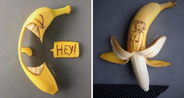 В руках художника банани стають витворами мистецтва