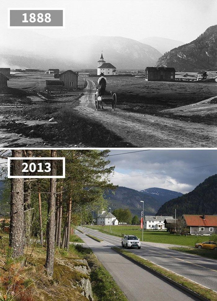 Ці фотографії минулого і сьогодення покажуть вам, як змінюється світ