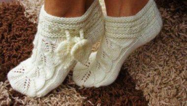 теплі носки своїми руками рукоділля домашні тапочки в язання 0ba0e039b6047
